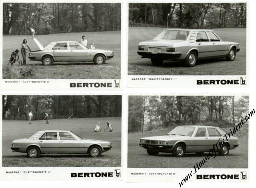 1974 Bertone Maserati Quattroporte II Press Release
